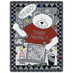 Bingo Bear Throw Blanket