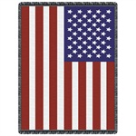 US Flag 2-Layer Throw Blanket