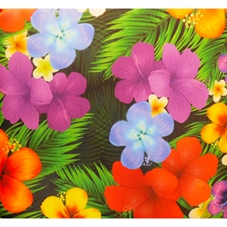 Hawaiian Flowers Double Seat Cushion with Flap
