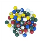 Multi-colored Plastic Bingo Balls