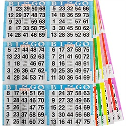 Assorted 6 on Bingo Paper
