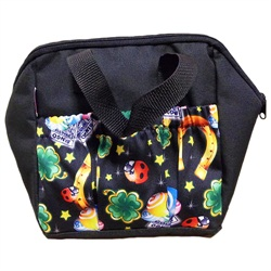 Lucky Charms 6-pocket Tote Bag Black