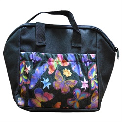Neon Butterfly 6-pocket Tote Bag Black