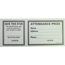 Attendance Prize Tickets